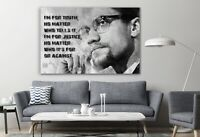 I'm For Truth Famous Malcolm X Canvas Home Décor Wall Art Print Room Painting