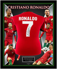 Cristiano Ronaldo Portugal Retro Shirt Signed on Back Framed Official Coa