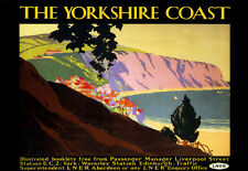 Art Ad Rocky Yorkshire Coast LNER Rail Travel Railway  Poster Print