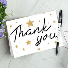 20 x Folded Thank You Occasions Stars A6 Cards ~ Notes Pack + Envelopes