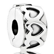 PANDORA Charm Clip Element 791978 Herzen Silber Bead