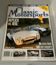 NEW Classic Motorsports Magazine #134 BIGGEST ISSUE EVER REPLICA VS. REAL Sep 08
