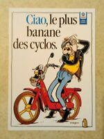 carte postale Franck Margerin Ciao Cyclo pub Vespa