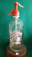 ANTIGUO SIFON TARRASA coleccion AGUA de SELTZ soda botella de cristal siglo XX
