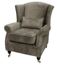 Ashley Fireside High Back Wing Armchair Opulence Truffle Brown Fabric