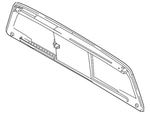 Genuine Nissan Back Glass 79700-EZ20A