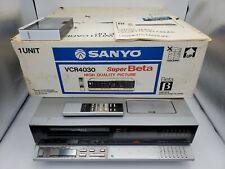 """Very rare"" Vtg Sanyo Vcr4030 SuperBeta hi-fi stereo betamax with org. Box"