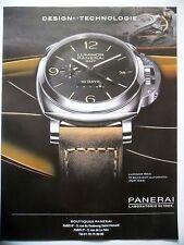 PUBLICITE-ADVERTISING :  PANERAI Luminor 1950  2015 Montres