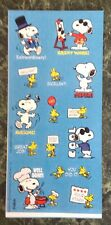 Vintage HALLMARK Snoopy & Woodstock Sticker Sheet~Peanuts~SCHULZ~Reward Stickers