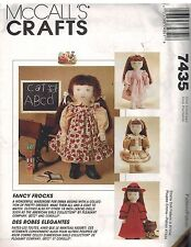 "7435 UNCUT Vintage McCalls Sewing Pattern Fancy Frocks 18"" Doll Clothes Dress FF"