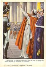 Stampa antica PAPA PIO IX appena eletto CONCEDE AMNISTIA 1932 Old antique print