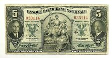 1935  5 Dollars - Banque Canadienne Nationale