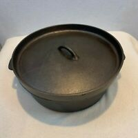Vintage Cast Iron 6 Quart Dutch Oven w/Lid, Clean and Seasoned