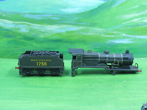 Triang Hornby R350 R33 Class L1 loco body shell & tender Southern 1756 -