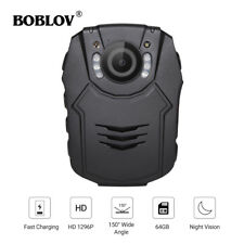 "Boblov 64GB Police Use Body Worn Camera HD 1296P Video Camcorder 2"" LCD Screen"
