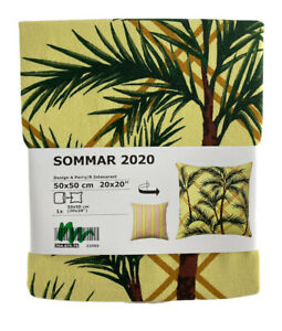 """Ikea Sommar 2020 Cushion Cover Yellow Multicolor Tropical 2 Designs 20""""x 20"""" New"""