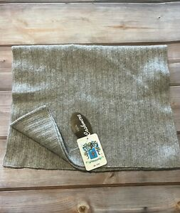 Portolano 100% Cashmere Gray Looped Hood Scarf Cowl Neck Snood hat