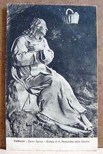 Subiaco - Sacro Speco - statua di S.Benedetto nella grotta [piccola, b/n]