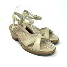 Dansko Womens Sandals Size 37 US 7 Slingback Comfort Beige Casual Professional