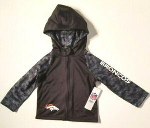 Denver Broncos 12M 2T Toddler Baby Boys Jacket Zip Hoody Official NFL Licensed