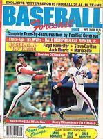 1984 Baseball Forecast magazine, Ron Kittle, White Sox , Darryl Strawberry, Mets