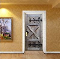 3D Retro Old Door Wall Mural Wallpaper Sticker Vinyl Removable Decal Home Decor