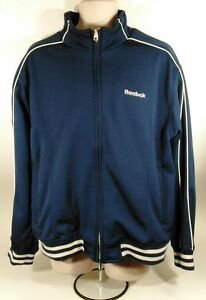Vintage REEBOK Full Zipper Basketball/Running /Track Warm-Up Jacket Mens Large