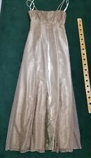 MORGAN & CO. SIZE 5/6 Light Pink PROM FORMAL LONG DRESS Rhinestone Embellished