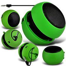 Green Mini Capsule Travel Rechargable Bass Speaker For Acer Liquid Jade