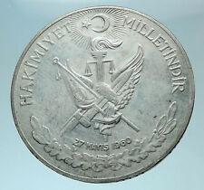 1960 Turkey 27 May REVOLUTION - Silver 10 Lira Coin Mustafa Kemal Atatürk i78763