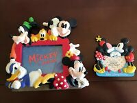 Walt Disney Parks And Resorts Mickey And Friends Photo Frames Lot 2 Frames