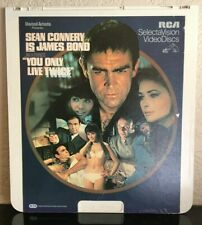 You Only Live Twice 1982 Sean Connery 007 James Bond RCA CED VideoDisc 01425