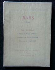 Poèmes  Bars, Léon  Vérane, préface  Carco
