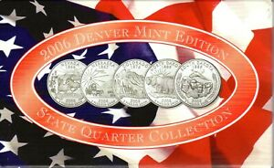 2006 US Denver Mint Edition State quarter proof collection with COA