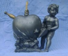 WMF ART NOUVEAU ANCIEN BRIQUET DE TABLE TABLE CIGAR LIGHTER ANGELOT MET ARGENTE