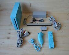 Wii - Nintendo Wii Konsole Blau mit Original Remote Controller
