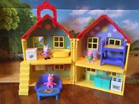 Peppa Pig's Deluxe House Play Set: 3 Figures, Furniture & Accessory Custom Lot