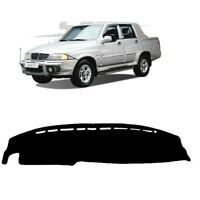 BLACK DASH MAT Cover Mat Dashmats for 2002 -2006 Ssangyong Musso Sports RH