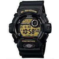 Casio G Shock g-8900-1 Watch World Time Alarm Timer Black Aluminum