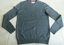 BNWOT 100% wool loose fit v necked jumper in dark grey by Boden, size L