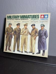 Vintage New Tamiya 1/35 Scale Military Miniatures Famous Generals
