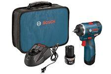 "Bosch PS22-02 12-Volt 1/4"" 2.0Ah Max Brushless Cordless Pocket Driver Kit NEW"