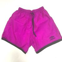 Vintage Umbro Shorts Purple Adult Small Drawstring USA Soccer Nylon Athletic S