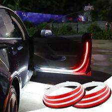 2pcs Car Door Open Warning Strip Light LED Flashing Flowing Lamp Anti-collision