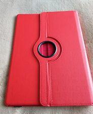 Tablet/pad case red leather