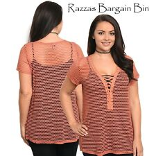 New Ladies Rust Net Overtop Plus Size 18-20/3XL (1134)PA