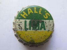 CROWN SEAL BOTTLE CAP HALLS LIMA SOUTH AUSTRALIA UNCRIMPED c1950s