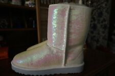 NWT UGG AUSTRALIA WOMEN CLASSIC SHORT BOOTS SPARKLES SEQUIN  SIZE 10 New Price