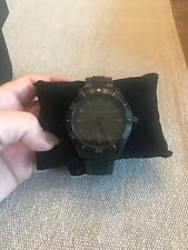 Armani Exchange Enzo Black Dial Stainless/Silicone Bracelet 46mm Watch AX1826