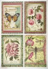 Papel De Arroz Para Decoupage Scrapbook Craft Hoja Flor botánico